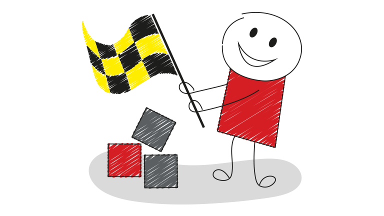 Stickman Goal Flag