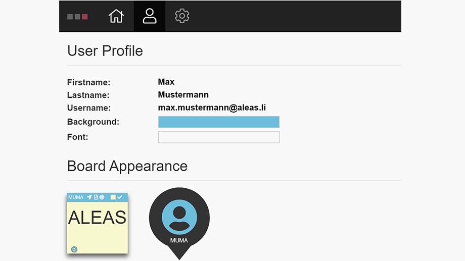 ALEAS Board Guide User Profile